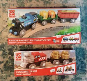 Cogwheel Train and Battery Powered Rolling Stock Set Wooden Railway