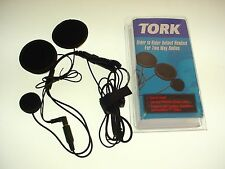 TORK RIDER TO RIDER HELMET HEADSET TWO WAY RADIO MOTOROLA COBRA SINGLE PIN -B