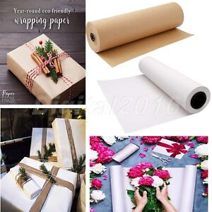 30m/Roll Recycled Kraft Wrapping Paper for Gift Box Card Letter Crafts Packaging