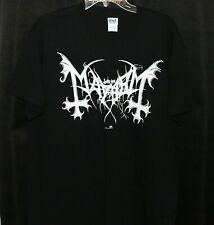MAYHEM -white logo / triple cross shirt