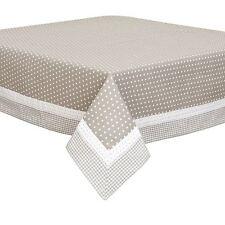 Beis Blanco Estrellas VICHY ENCAJE 100% algodón 150 x 150cm – Mantel