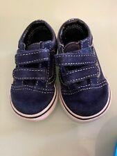 Vans  . Infant Toddler Shoes size 2.5 Black/ Blue Velvet