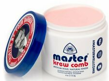 Master Krew Comb Hair Styling Cream Medium Hold Natural Finish 4oz.