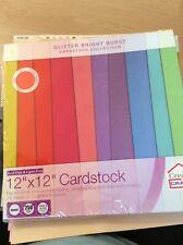 "12"" X 12"" Glitter Bright Burst Cardstock 24 Sheets  Cardmaking Scrapbook Crafts"