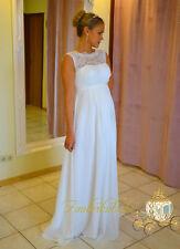 Vestido de Novia Sueño Estilo Campana Vestido Premamá Blanco Marfil