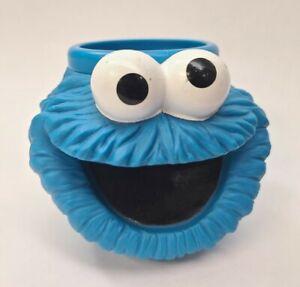 Vintage Applause 1994 Henson Sesame Street Cookie Monster 3D Plastic Mug EUC