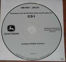 John Deere 4100 4200 4300 4400 Tractor Technical Service Shop Repair Manual Cd