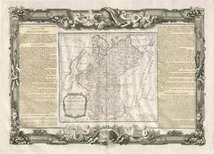 """""""La Russie Européenne"""". Russia in Europe. DESNOS/DE LA TOUR 1771 old map"""