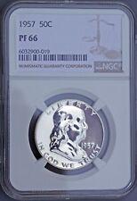 NGC PF66 1957 Proof Ben Franklin Half Dollar (6032900-019)