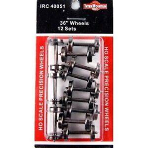 "36"" Precision Blackened Train Wheels (12) HO - InterMountain #40051 vmf121"