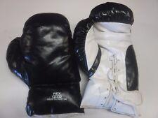 Pair Of Boxing Gloves Rex Black & White 14 Oz Unused 091317jh2