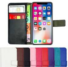 Premium Leather Flip Wallet Case Card Gel Cover NEW for iPhone X XR XS MAX 8 7 6