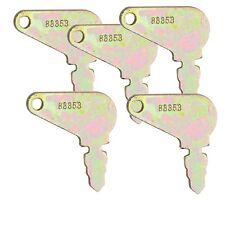 5 Ignition Start Keys For Case JLG JD Genie Drott Massey Galion Baraga Snoopy