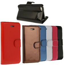 For iPhone 5 5S SE Leather Wallet Flip Stand Shockproof Protective Book Cover