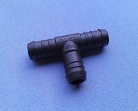 1x T Schlauchverbinder RGV 10 mm 10 mm 8 mm reduziert 62mm T Stück schwarz 200C