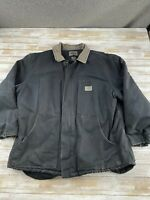 DICKIES MEN SIZE 2XL BLACK FULL ZIP INSULATED CANVAS WORK JACKET