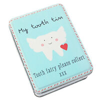 Tooth Fairy Tin for Tiny Things Children Christmas Stocking Filler Box Blue New