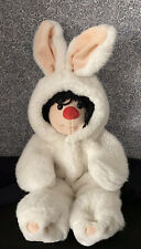 """Big Comfy Couch 1995 Vintage 12"""" Plush Molly in bunny costume"""