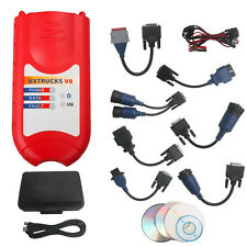 NEW Bluetooth V XTRUCKS V8 USB Link Wireless Diagnose Interface with All Adapter