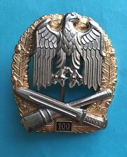GERMAN ARMY GENERAL ASSAULT 100 ACTIONS ( 1957 STYLE) BADGE
