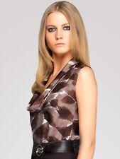 New Gucci Silk Twill Belted Blouse Shirt Sz IT 44 $1890