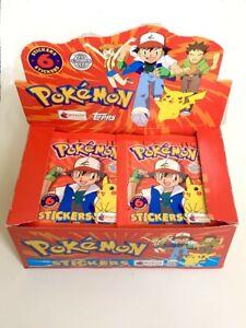 1x Pokemon MERLIN Stickers packet Topps Series 1 - 1999 - Vintage - Nintendo