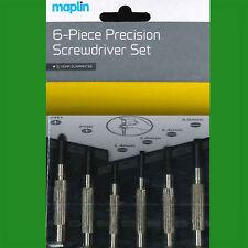 6 Pieza Destornillador de precisión conjunto de herramientas, 2 Phillip 4 estándar Ranurado