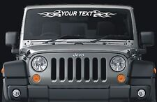 Jeep Wrangler Custom Windshield Decal EBay - Custom windo decals for jeepsjeep hood decals and stickers custom and replica jeep decals now