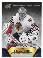 2015 UD Prominent Cuts Corey Crawford NSCC Nationals Redemption Card