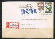 Bund, Brief, 773 R senkr. Paar 070, auf E-Brief von Schloss Holte-St.. nach Bonn