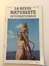 LA REVUE NATURISTE N ° 42  / 1959 / PIN UP CHARME EROTISME / NO PLAY BOY NO LUI