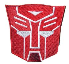 Transformers Rotes Mech Logo - Uniform Kostüm Patch  -  Aufnäher neu