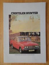 CHRYSLER HUNTER 1978 gamme UK MKT la brochure commerciale-HILLMAN intérêt