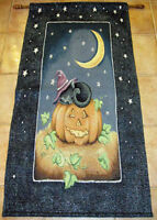 Spooky Friend Halloween Pumpkin & Black Cat Tapestry Wall or Door Hanging