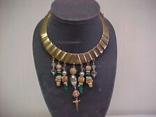 ESTATE BIB NECKLACE ONE OF A KIND PIECE HAND CRAFTED