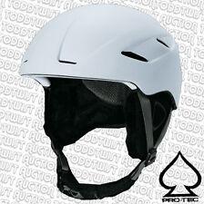 PROTEC Descent Snowboard Helmet  Matte White  -  Large