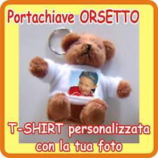 """PORTACHIAVI """"ORSETTO"""" PERSONALIZZATO CON LA TUA FOTO!"""
