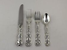 Gorham Strasbourg Old Mark Sterling Silver 4 Piece Place Setting - No Monograms