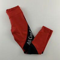 New Nike ACG Cropped All Condition Gear Leggings Zip Pocket Women's M Red $90