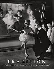 Ballet Dance Studio Motivational Poster Print Shoes Flats Tutu Leotard MVP439
