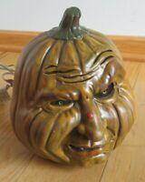 Vintage Halloween Ceramic Pumpkin 1988 Halloween Face Jack O Lantern Decoration
