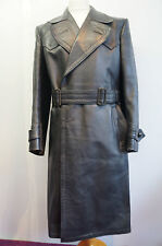 "Vintage WW2 officiers allemands horsehide leather coat taille 38"" - 40"""
