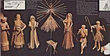 CHRISTMAS NATIVITY/CRECHE STRAW WHEAT WEAVING/WHEATWEAVING DOLL PATTERN 3 KINGS