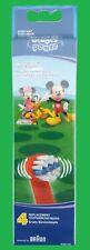 4  Braun Oral B  Mickey Mouse Kinder Aufsteckbürsten  Ersatzbürsten  Oralb
