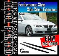 GLOSSY BLACK PAINTED 08-13 BMW E82 COUPE ALL MODELS PERFORMANCE SIDE SKIRTS