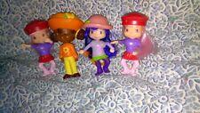 2007 LOT of 4 Strawberry Shortcake FRIENDS figures Plum Puddin' Orange Blossom