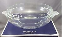 "Mikasa Crystal Satin Rose Round Vegetable Serving Bowl  8"" In Box"