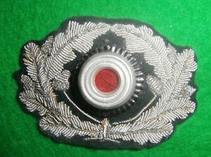 ORIGINAL WW2 GERMAN OFFICERS BULLION CAP WREATH AND COCKADE UNUSED NEAR MINT.