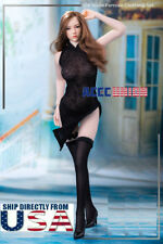 """1/6 Sexy Black Dress Stockings Set with Shoes For 12"""" PHICEN Female Figure USA"""