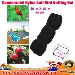 Commercial Fruit Tree Plant Knitted Anti Bird Netting Pest Net Fruit Veg 30x15m